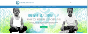 holistic life foundation landing page