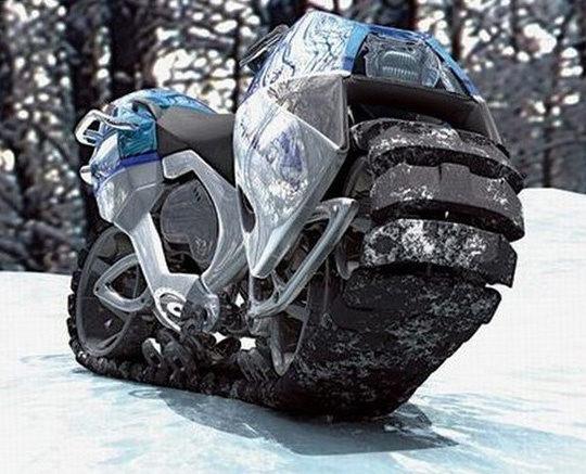 tracked motorcycle